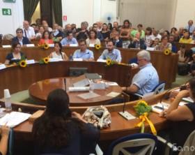 Il Consiglio comunale di Fano, nella sala di via Nolfi