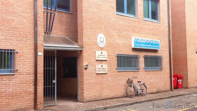 La sede del commissariato di polizia di Fano