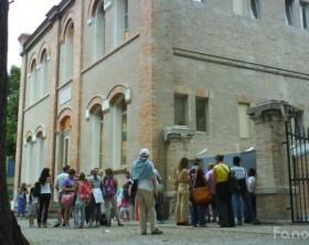 La mediateca Memo Montanari in piazza Amiani a Fano