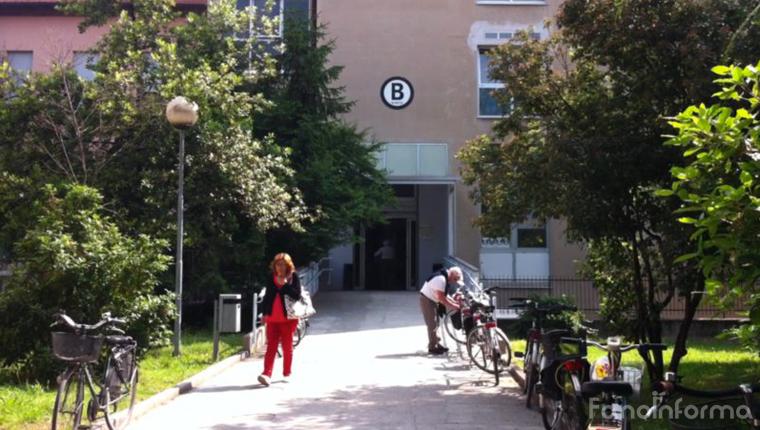 Il padiglione B dell'ospedale Santa Croce di Fano