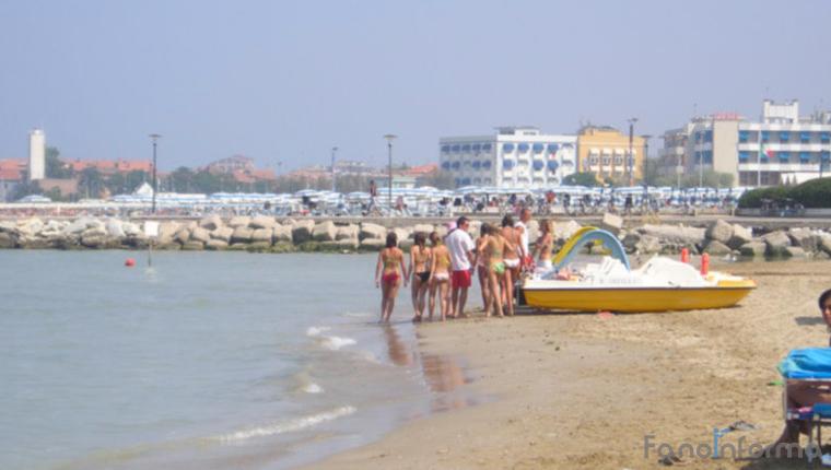 La spiaggia del Lido di Fano