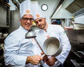 I due concorrenti di Chef in the City 2014 Giuseppe Burini e Marco Vitali