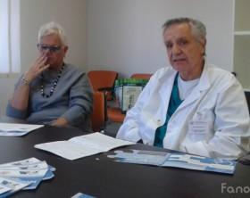 Francesca Conti (Presidente Anteas) e Giuseppe Migliori (Direttore Otorinolaringoiatria dell'azienda ospedaliera Ospedali Riuniti Marche Nord