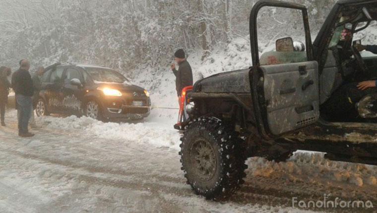 Maltempo, neve anche a Fano