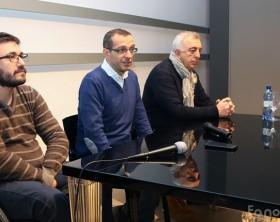 Rito Briglia, il sindaco Matteo Ricci e Enzo Belloni di Pesaro