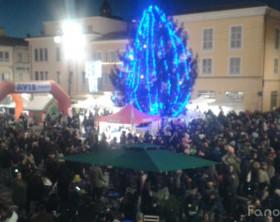 Piazza XX Settembre a Fano durante la Festa della Befana