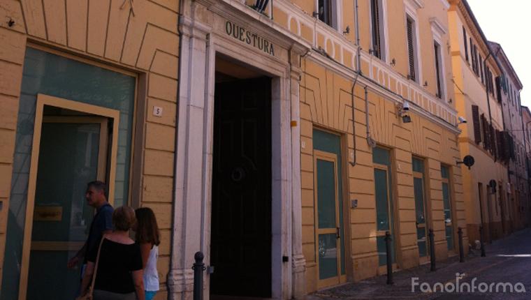 La sede della Questura di Pesaro e Urbino