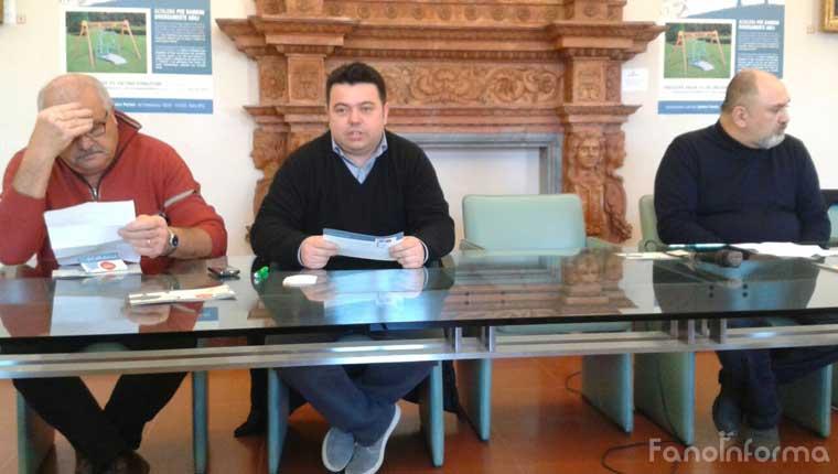 """Bartolini, Pagnetti e Romiti presentano il progetto """"Un'altalena per sognare"""""""
