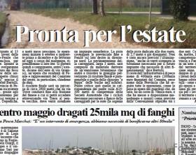 L'edizione di martedì 24 marzo del quotidiano Fanoinforma con le notizie della città di Fano