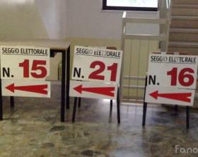 i seggi elettorali per il voto a Fano