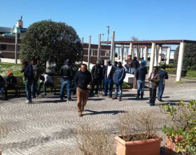 I profughi ospitati all'Hotel Plaza a Fano