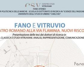 L'appuntamento del Centro Studi Vitruviani di Fano