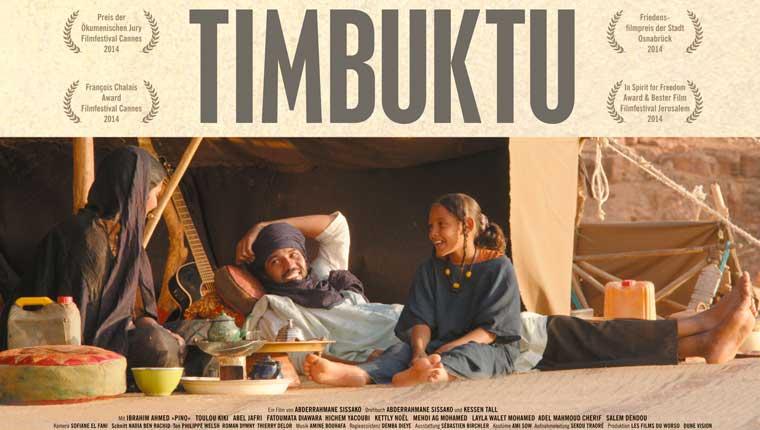 La locandina del film Timbuktu che sarà proiettato al Politeama di Fano per la rassegna Cinefanum