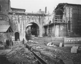 I lavori per l'arretramento del San Michele