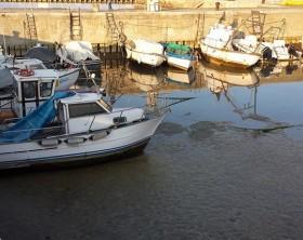 Porto di Fano con il problema del dragaggio