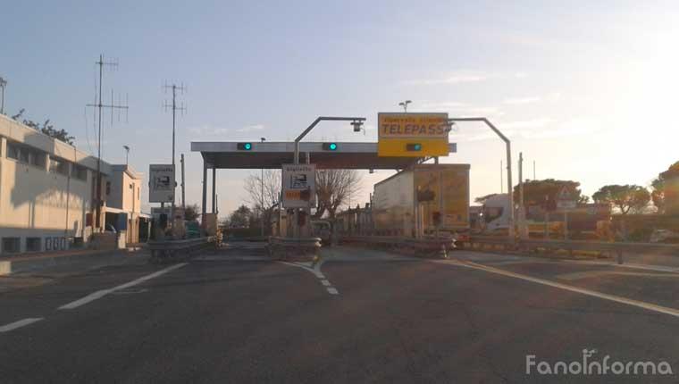 Il casello autostradale di Fano