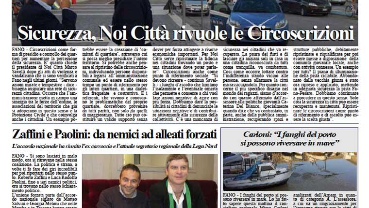 L'edizione di oggi, martedì 28 aprile del quotidiano Fanoinforma con le notizie sulla città di Fano