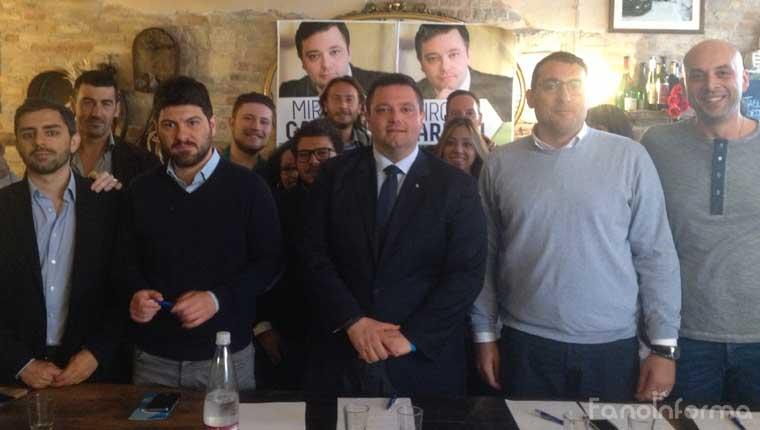 Fano: la presentazione della candidatura al Consiglio regionale delle Marche di Mirco Carloni