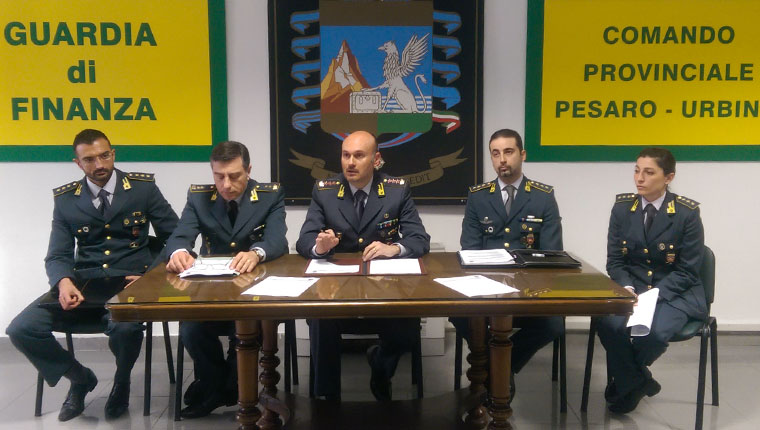 La presentazione dell'attività 2014 della Guardia di Finanza della Provincia di Pesaro e Urbino