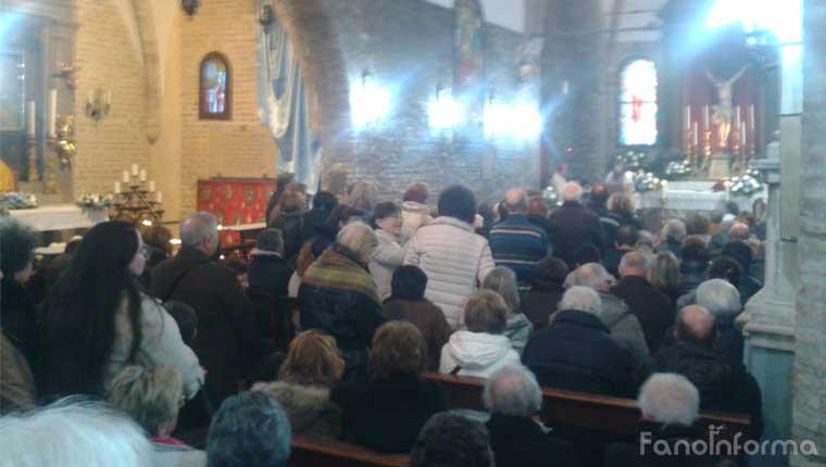 La messa celebrata dal vescovo Armando Trasarti alla festa religiosa del santuario di Madonna Ponte a Fano