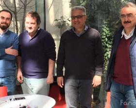 La presentazione del Festival Passaggi di Fano. Da sinistra Samuele Mascarin, Giovanni Belfiori, Stefano Marchegiani, Cesare Carnaroli