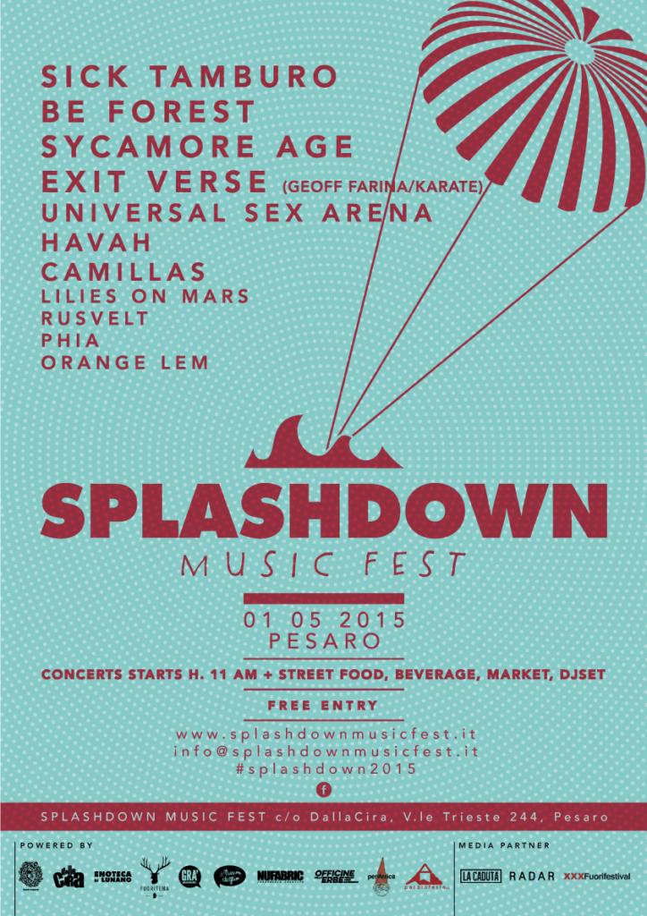 Lo Splashdown Music Fest a Pesaro, il 1° maggio