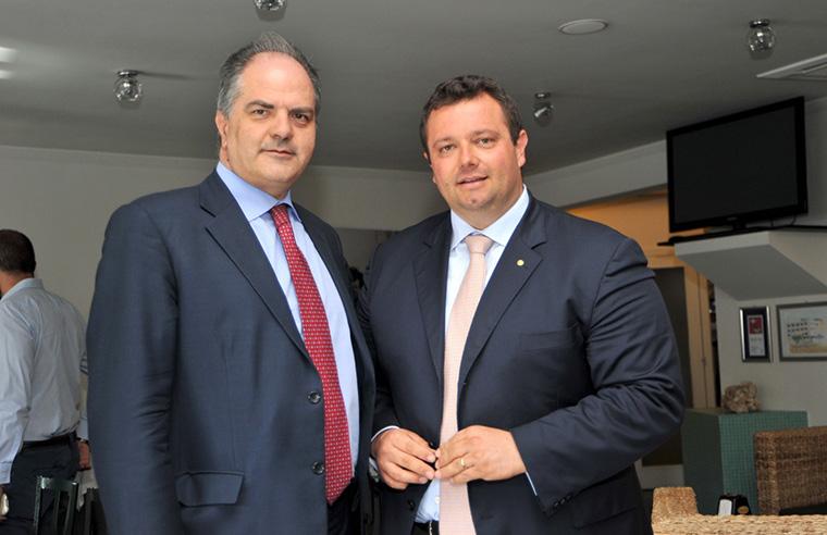L'onorevole Giuseppe Castiglione e Mirco Carloni