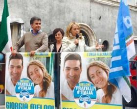 Giorgia Meloni e Antonio Baldelli a Pergola