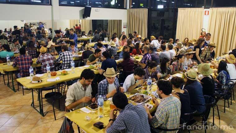 La cena contadina che si è svolta ieri al Falcineto Park nell'ambito della Festa della Mietitura