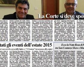 L'edizione del 20 maggio 2015 del quotidiano Fanoinforma con le notizie della città di Fano