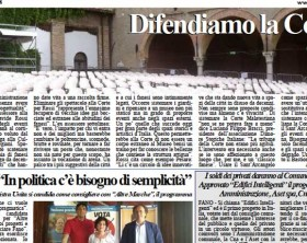 L'edizione di oggi del quotidiano Fanoinforma con le notizie della città di Fano