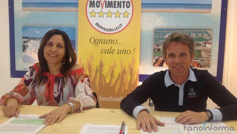 Rossella Accoto, candidata consigliera regionale Marche e Hadar Omiccioli, consigliere comunale Fano a 5 Stelle