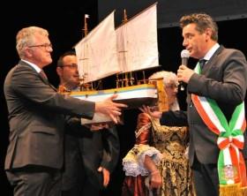 lI sindaco Massimo Seri e il borgomastro Hans Jurgen Putsch