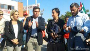 Il discorso del sindaco Massimo Seri ai lavoratori dell'Auchan durante la protesta a Fano