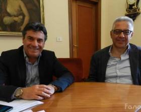 Il sindaco Massimo Seri e il vicesindaco Stefano Marchegiani di Fano