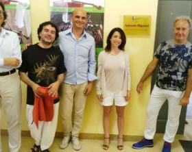 La presentazione del Festival Giovani per la Musica di Pesaro. Nella foto: Molinelli,, Borgogelli, Salucci, Della Dora, Bigonzi