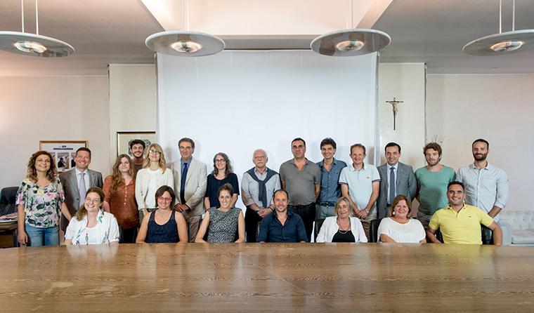 Foto di gruppo per i partecipanti al corso di inglese per aziende