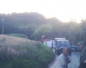 Il luogo dell'incidente dove ha perso la vita Edoardo Serafini