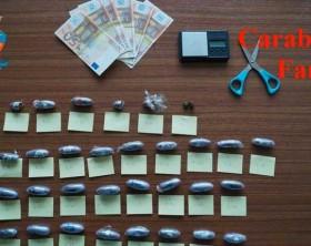 La droga sequestrata dai carabinieri di Fano