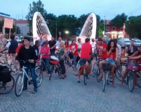 L'inaugurazione della pista ciclabile illuminata Fano-Fosso Sejore