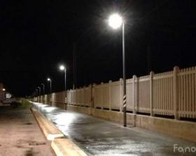 La pista ciclabile Fano-Fosso Sejore illuminata