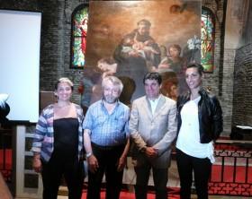 La presentazione del restauro della tela d'altare raffigurante Sant'Antonio da Padova