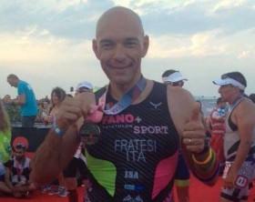 Marco Fratesi, finisher all'Iron Man di Pescara