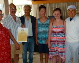 La famiglia Fuld, l'assessore Marchegiani ed i Della Cecca titolari dell'Hotel Europa di Fano