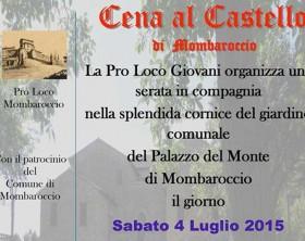 La locandina della Cena al Castello di Mombaroccio