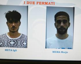 I due fermati: Igl Meta e Marjo Mema, accusati dell'omicidio di Ismaele Lulli, 17enne di Sant'Angelo in Vado