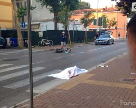 L'incidente in viale Gorizia a Pesaro