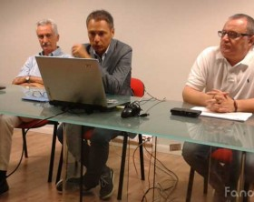 Il direttore generale Aldo Ricci, il direttore sanitario Alberto Deales e il direttore di presidio Santa Croce Nicola Nardella dell'azienda Ospedali Riuniti Marche Nord a Pesaro