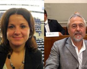 Dana Pierapoli e Giancarlo D'Anna, della lista civica Fano Città Ideale-Lista D'Anna di Fano