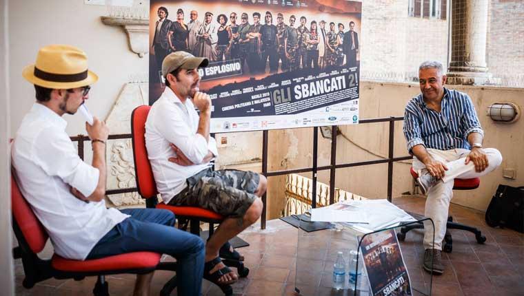 """La conferenza stampa di presentazione del film """"Gli Sbancati"""" diretto da Henry Secchiaroli di Fano - Foto Wilson Santinelli"""
